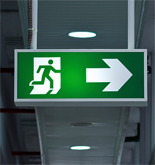 Emergency lighting exits
